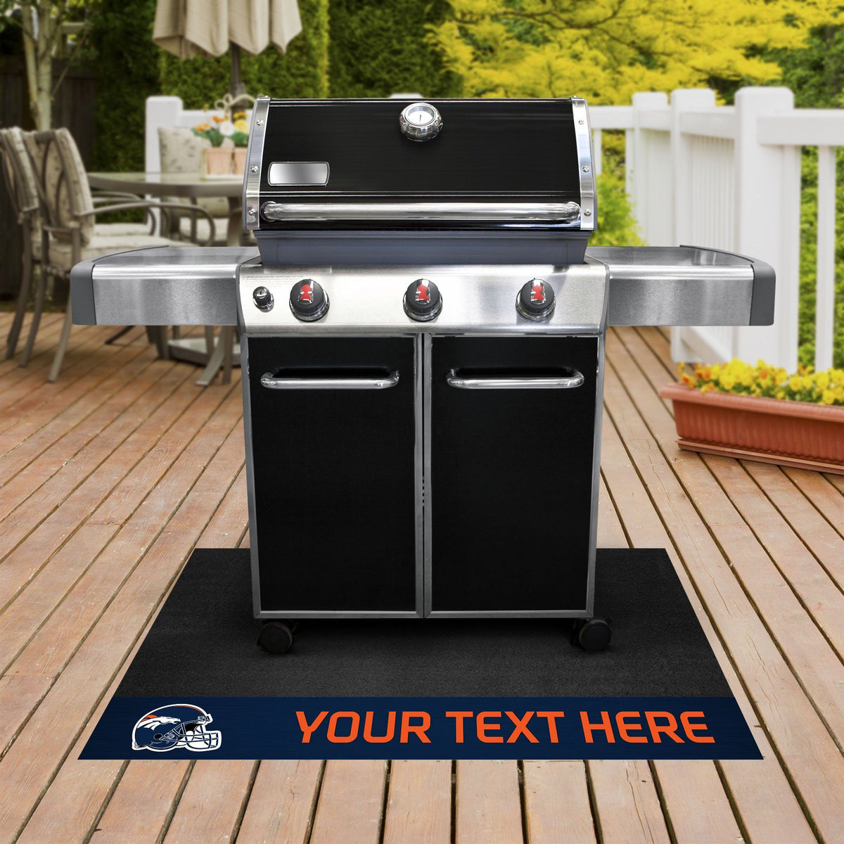 NFL Personalized Grill Mat Personalized Grill Mat Fan Mats Denver Broncos