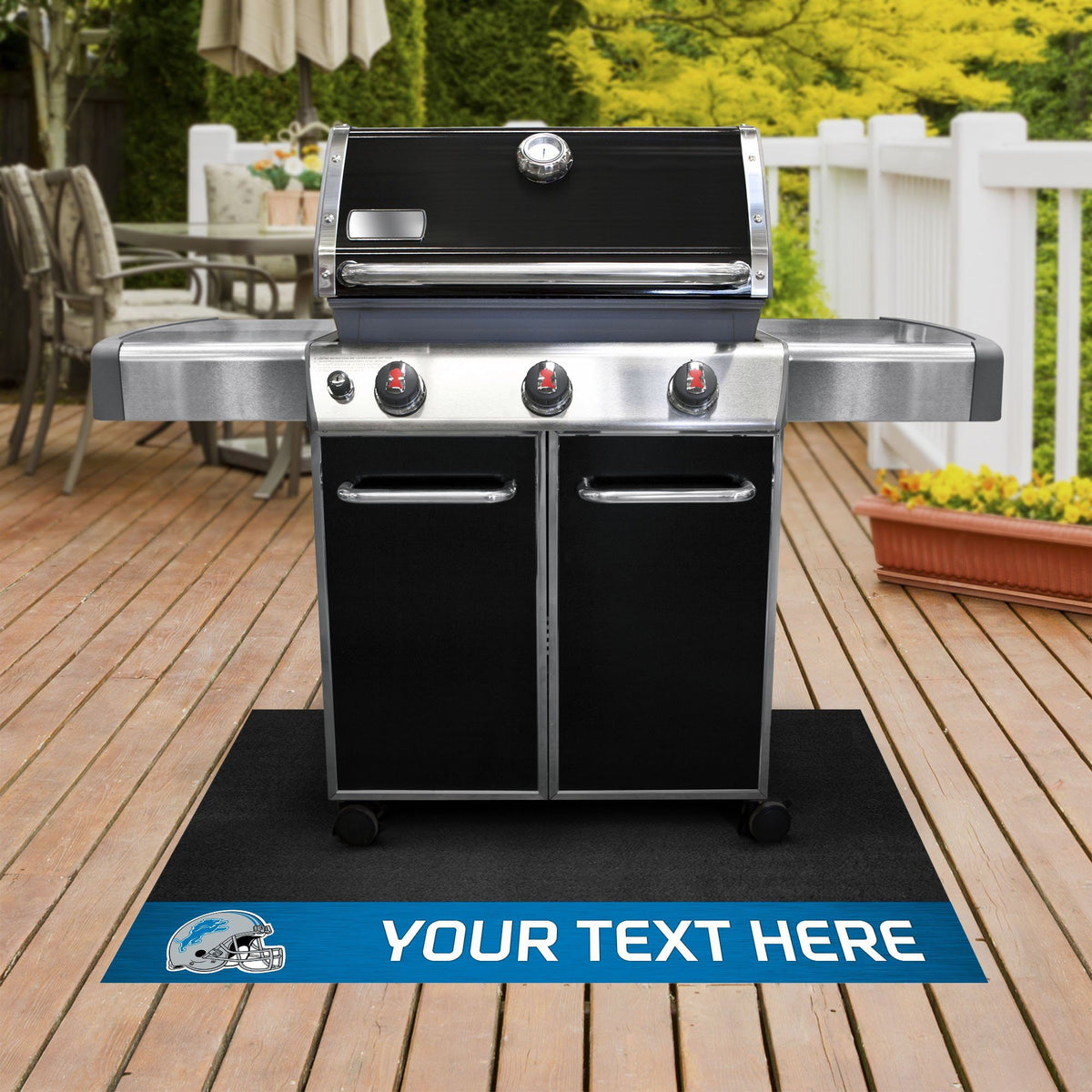 NFL Personalized Grill Mat Personalized Grill Mat Fan Mats Detroit Lions