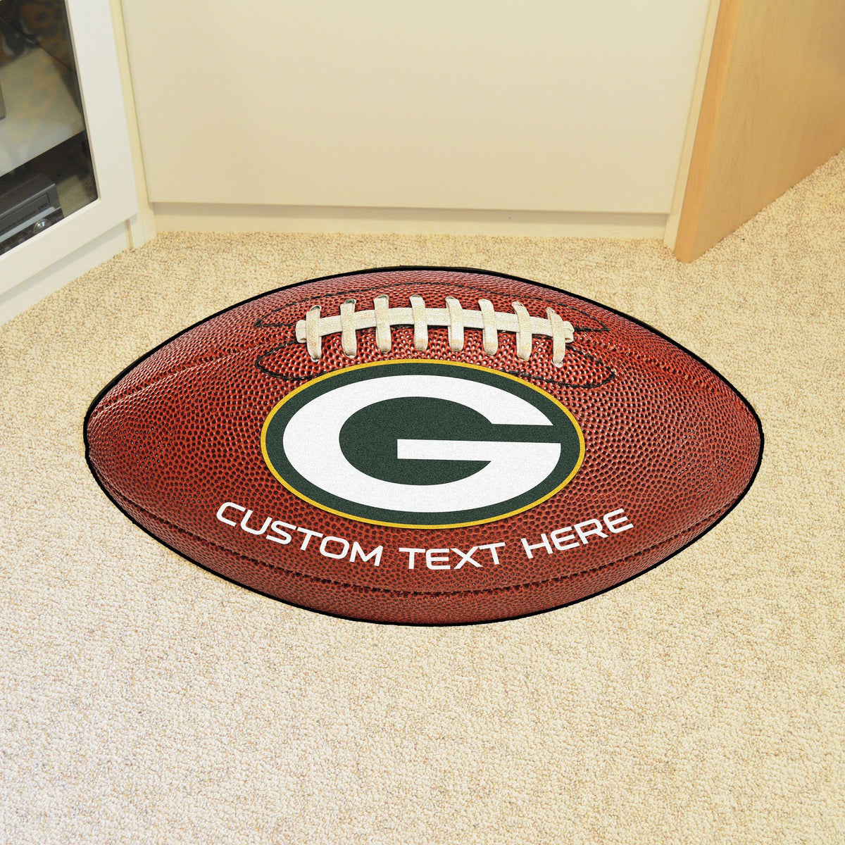 NFL Personalized Football Mat Personalized Football Mat Fan Mats Green Bay Packers