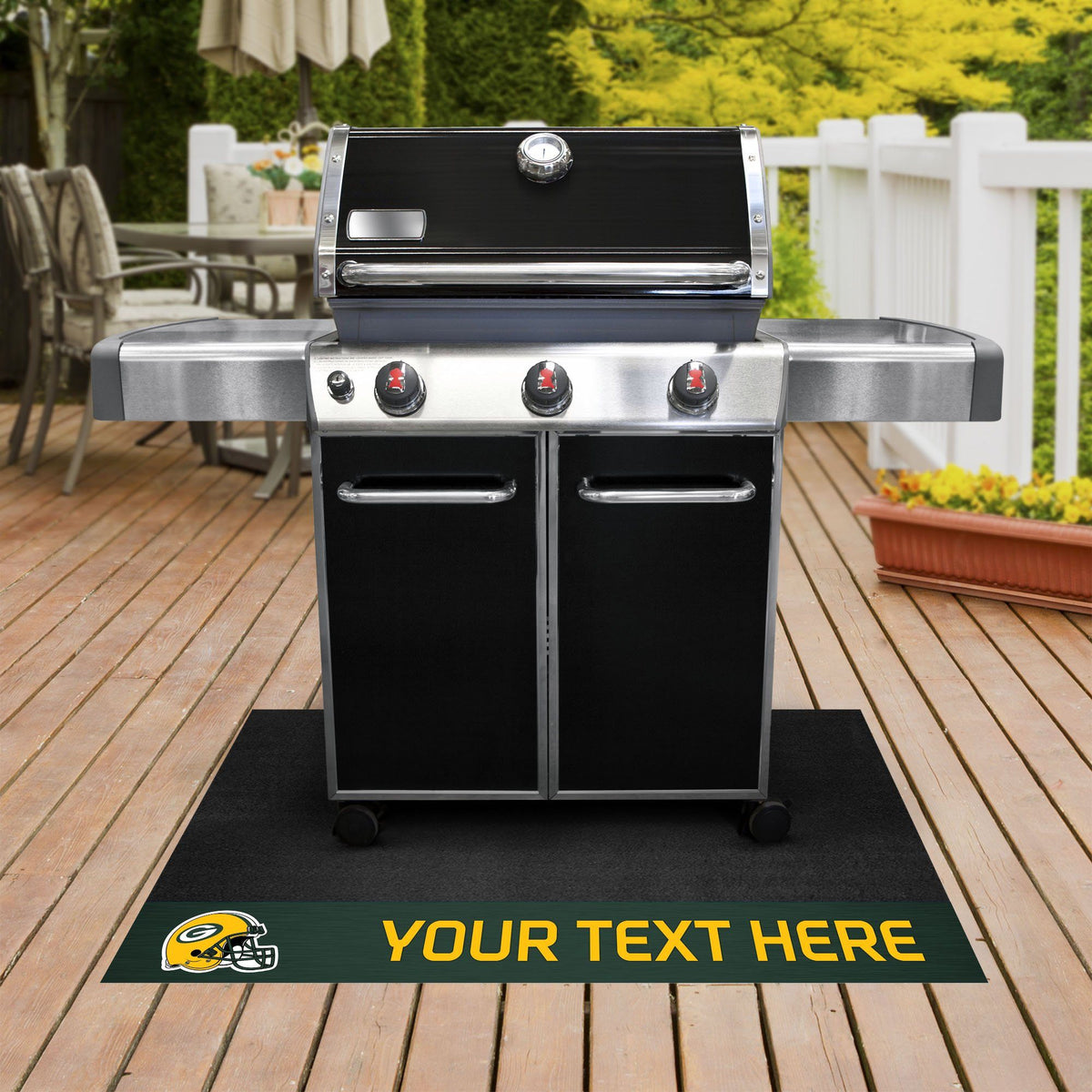 NFL Personalized Grill Mat Personalized Grill Mat Fan Mats Green Bay Packers