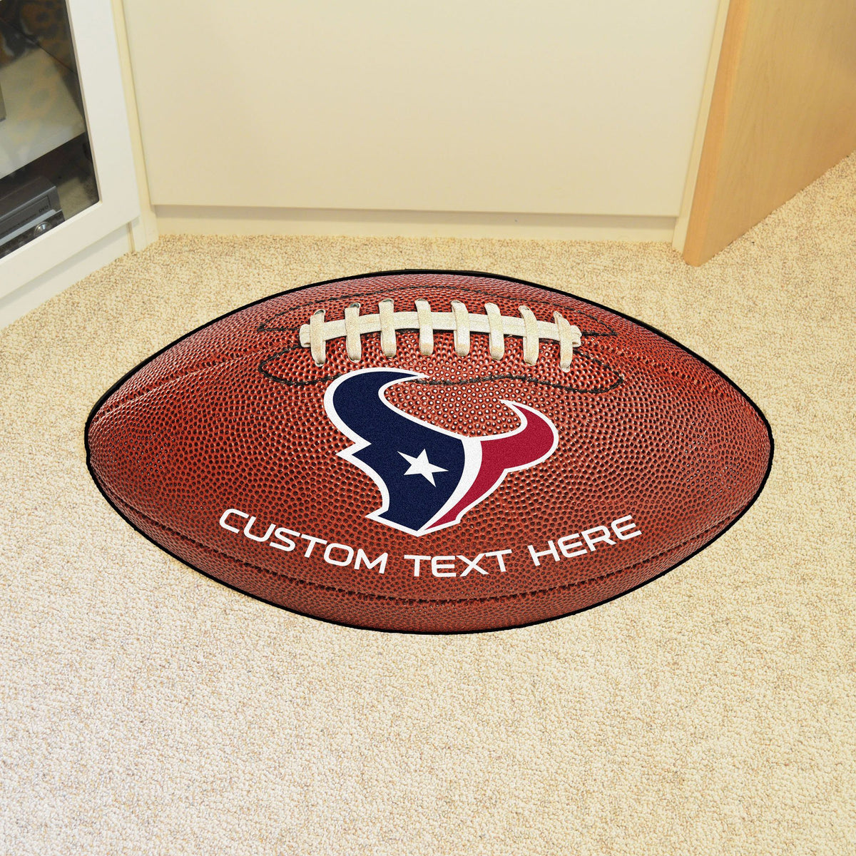 NFL Personalized Football Mat Personalized Football Mat Fan Mats Houston Texans