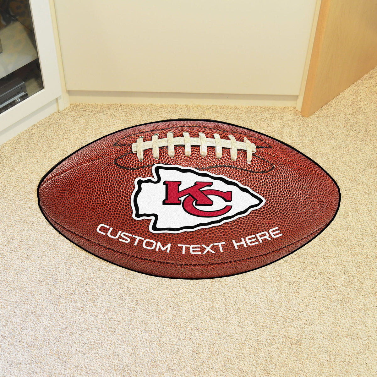 NFL Personalized Football Mat Personalized Football Mat Fan Mats Kansas City Chiefs