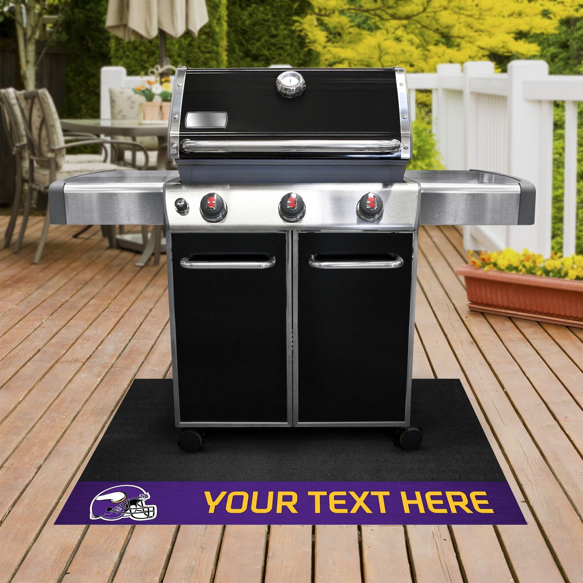 NFL Personalized Grill Mat Personalized Grill Mat Fan Mats Minnesota Vikings