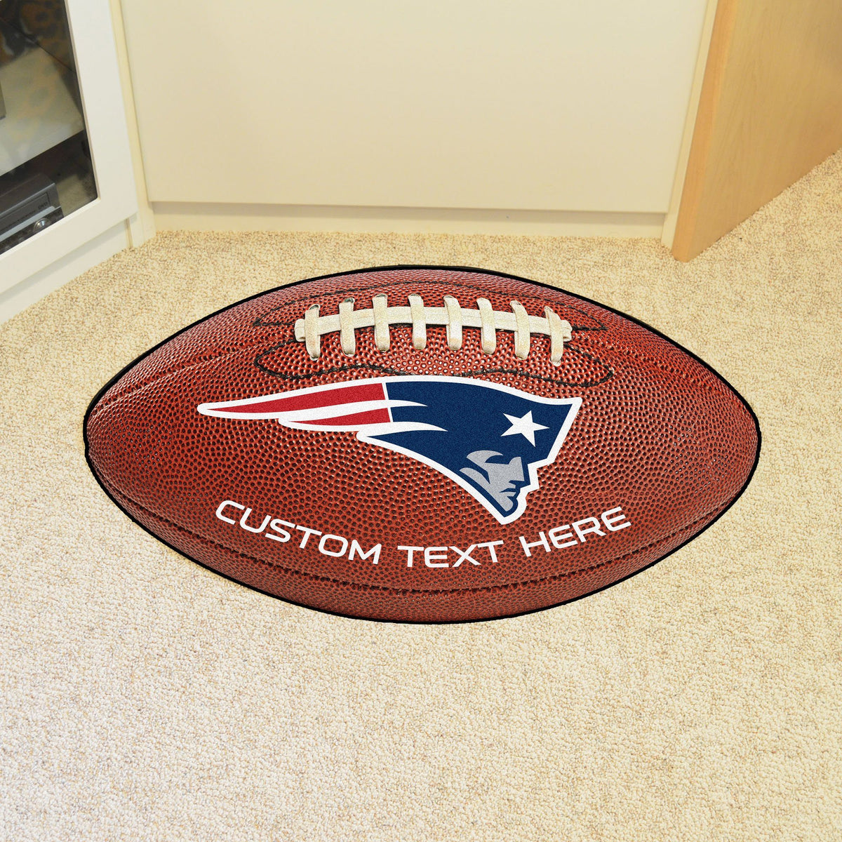 NFL Personalized Football Mat Personalized Football Mat Fan Mats New England Patriots