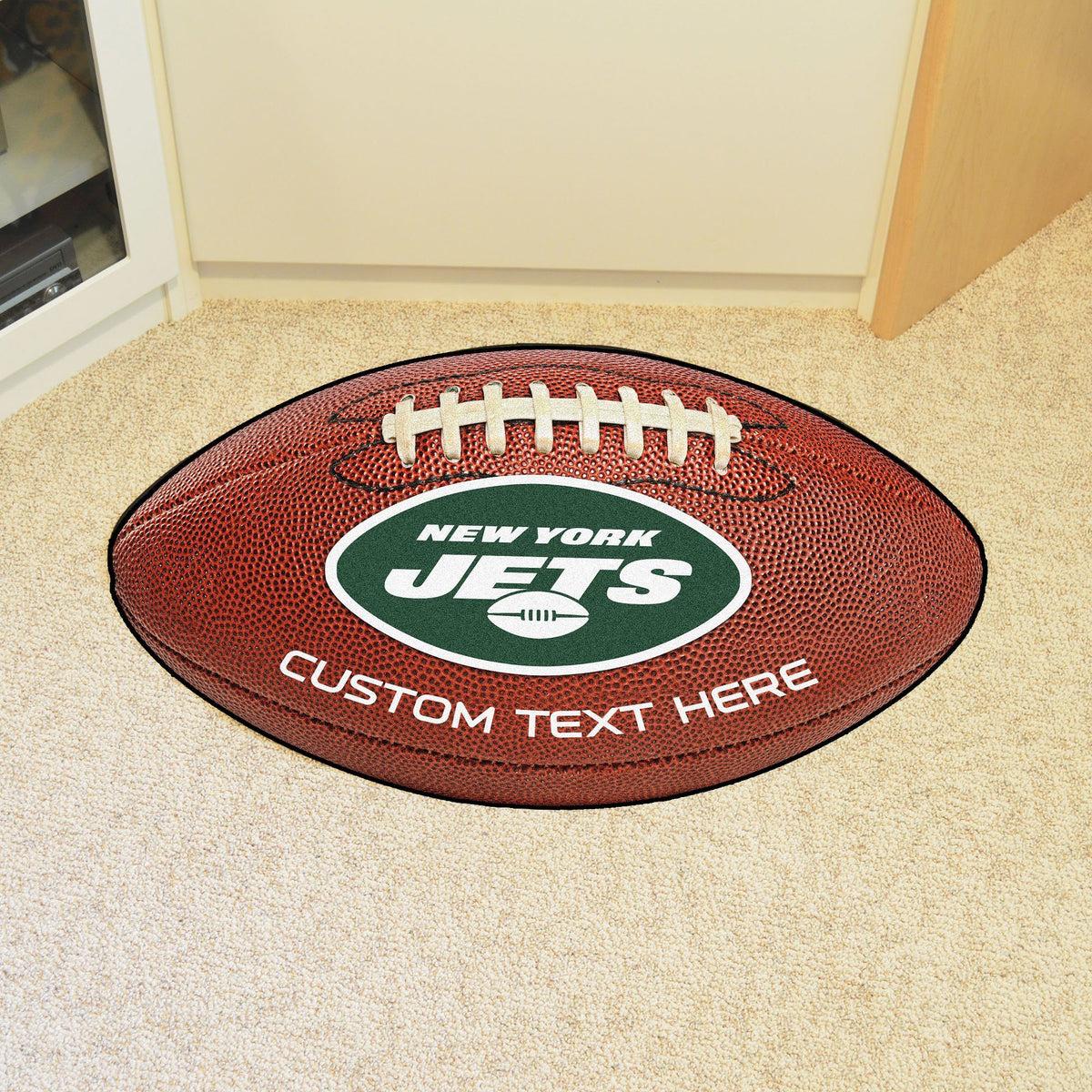 NFL Personalized Football Mat Personalized Football Mat Fan Mats New York Jets