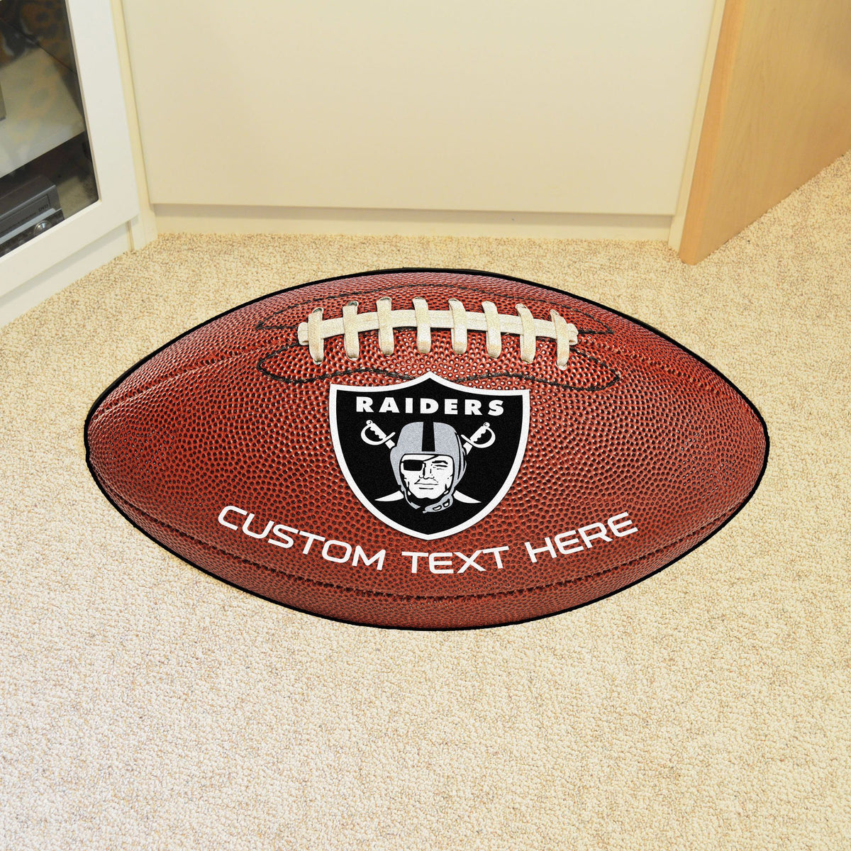 NFL Personalized Football Mat Personalized Football Mat Fan Mats Oakland Raiders