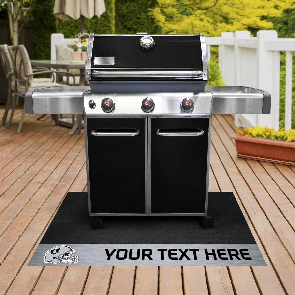 NFL Personalized Grill Mat Personalized Grill Mat Fan Mats Oakland Raiders