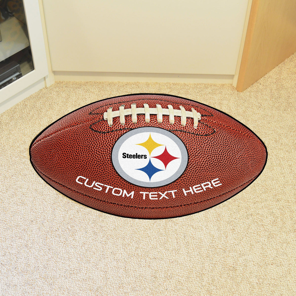 NFL Personalized Football Mat Personalized Football Mat Fan Mats Pittsburgh Steelers