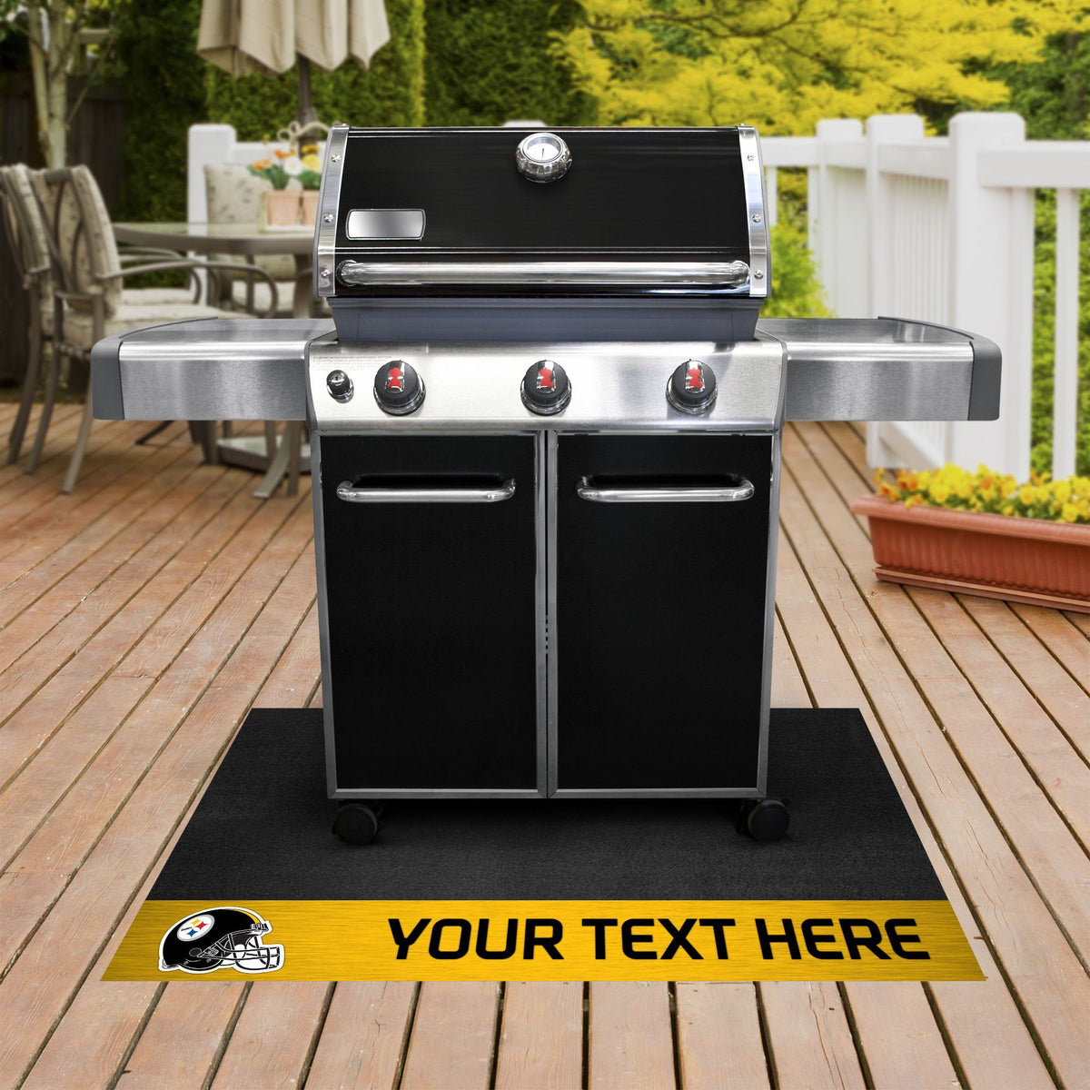 NFL Personalized Grill Mat Personalized Grill Mat Fan Mats Pittsburgh Steelers