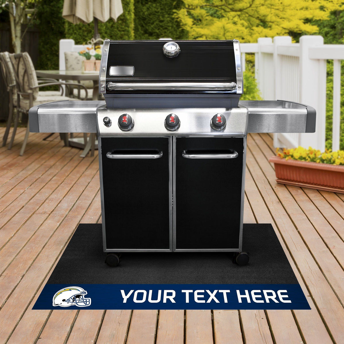 NFL Personalized Grill Mat Personalized Grill Mat Fan Mats Los Angeles Chargers