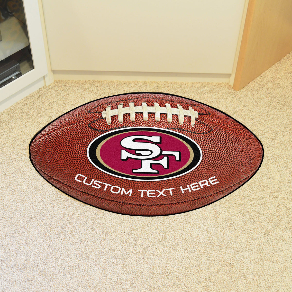 NFL Personalized Football Mat Personalized Football Mat Fan Mats San Francisco 49ers