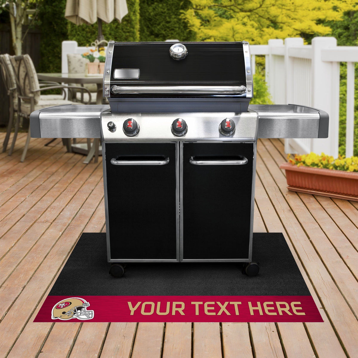 NFL Personalized Grill Mat Personalized Grill Mat Fan Mats San Francisco 49ers