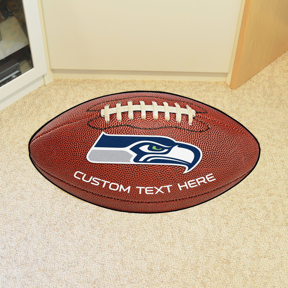 NFL Personalized Football Mat Personalized Football Mat Fan Mats Seattle Seahawks