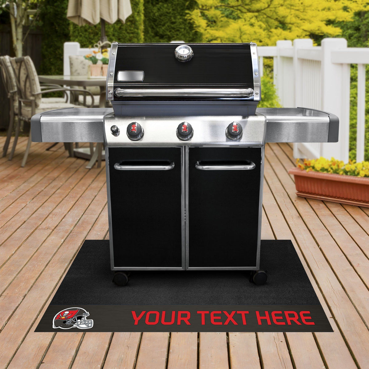 NFL Personalized Grill Mat Personalized Grill Mat Fan Mats Tampa Bay Buccaneers