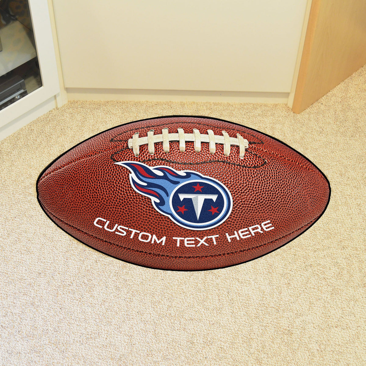 NFL Personalized Football Mat Personalized Football Mat Fan Mats Tennessee Titans