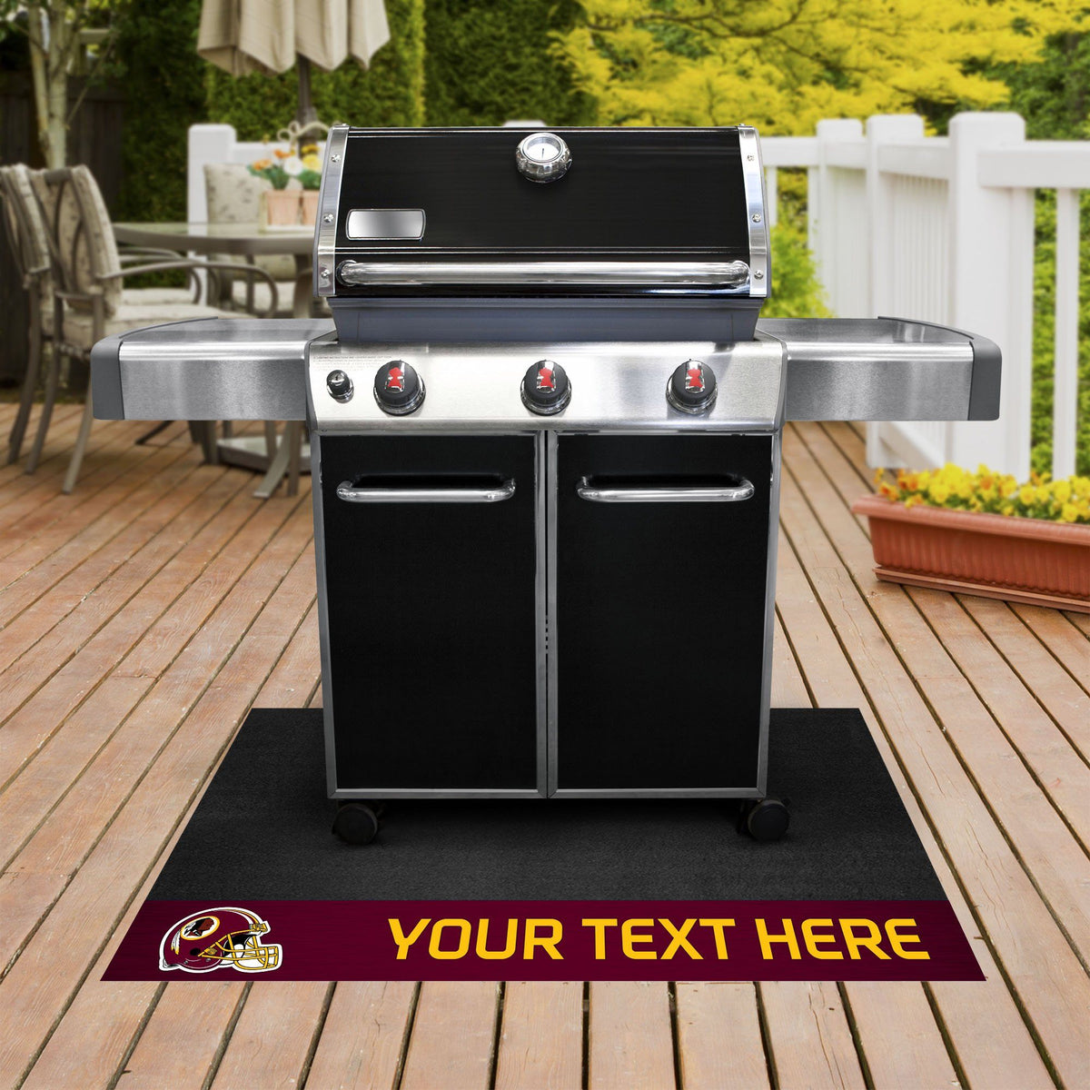 NFL Personalized Grill Mat Personalized Grill Mat Fan Mats Washington Redskins