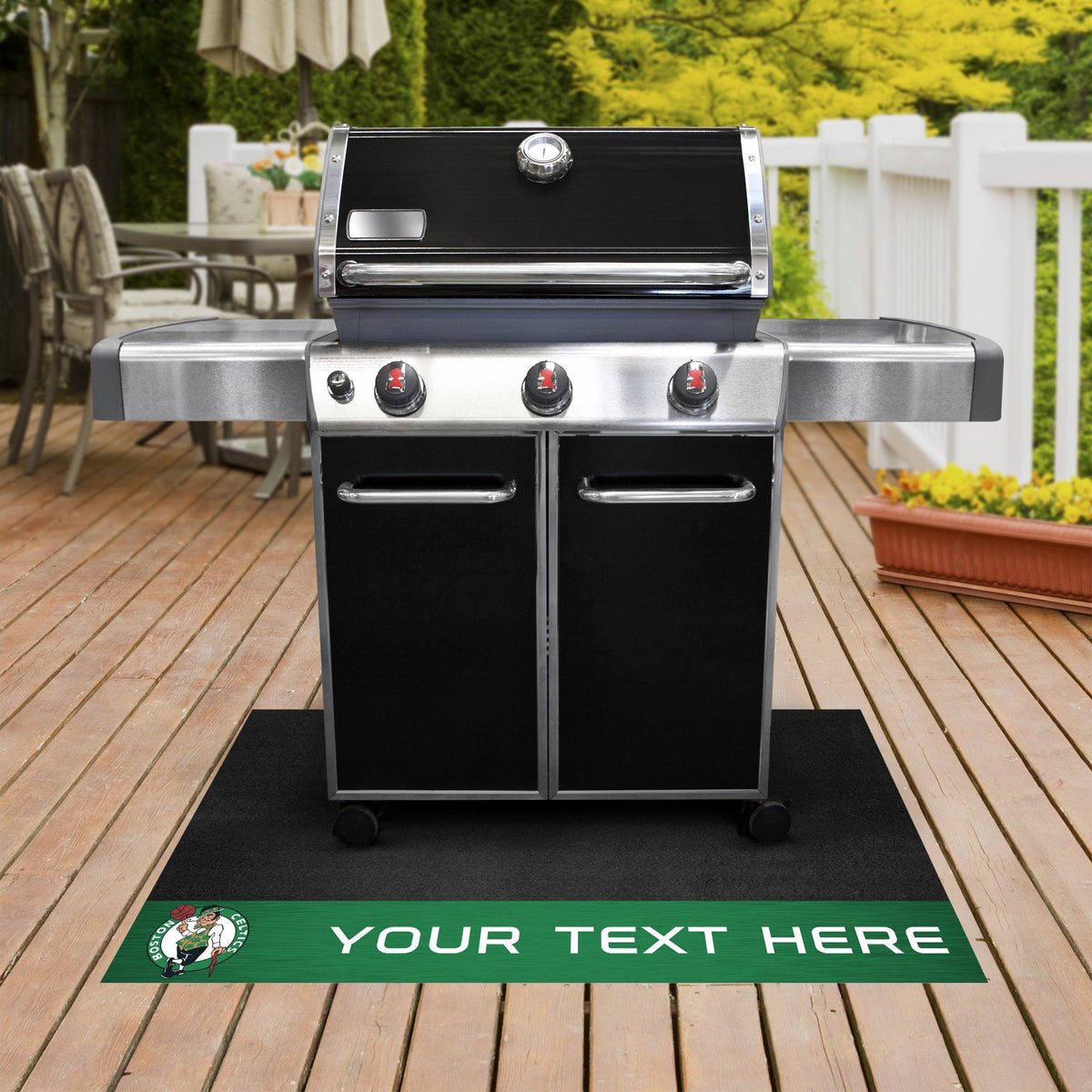 NBA Personalized Grill Mat Personalized Grill Mat Fan Mats Boston Celtics