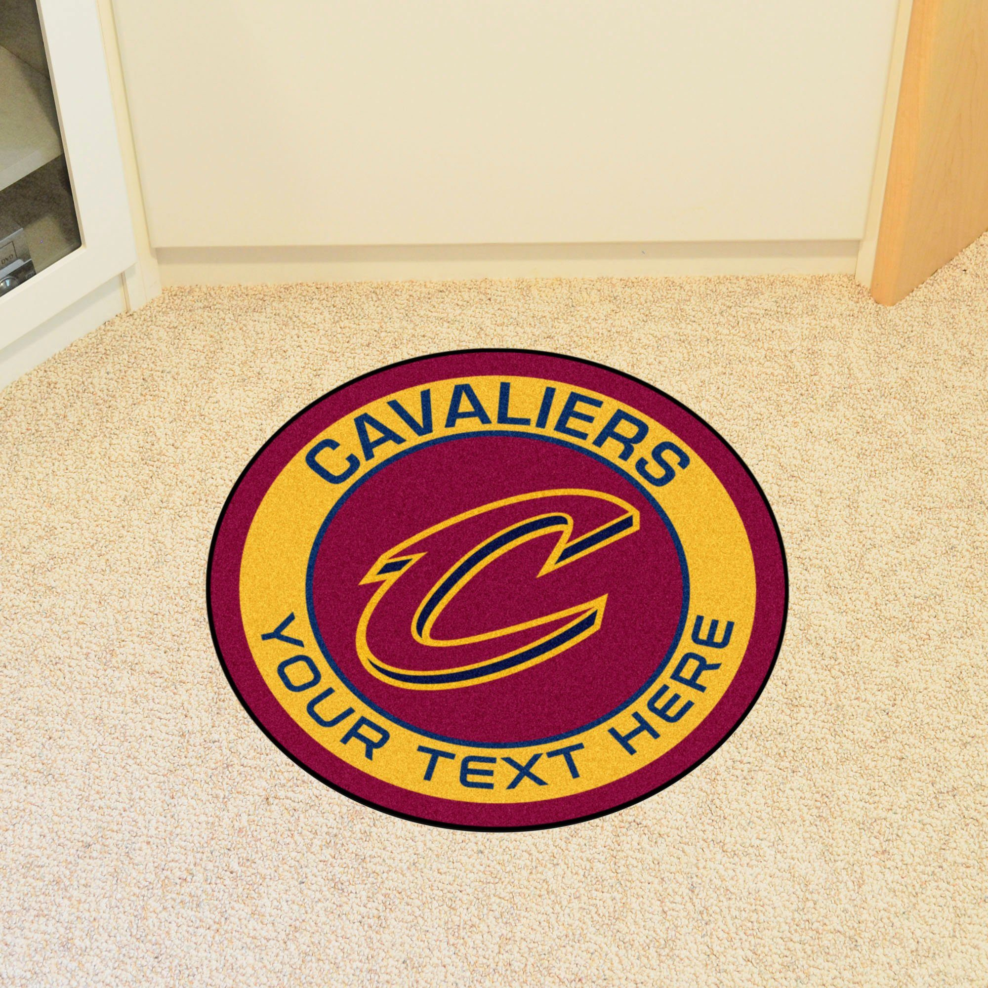 NBA Personalized Roundel Mat Personalized Roundel Mat Fan Mats Cleveland Cavaliers