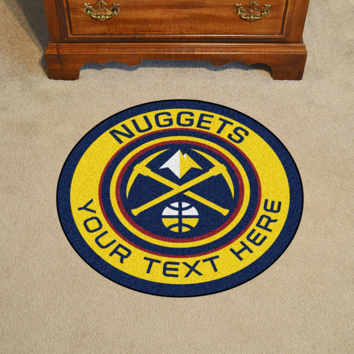 NBA Personalized Roundel Mat Personalized Roundel Mat Fan Mats Denver Nuggets