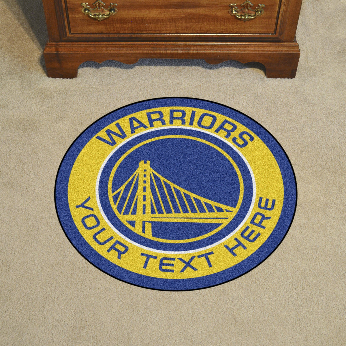 NBA Personalized Roundel Mat Personalized Roundel Mat Fan Mats Golden State Warriors