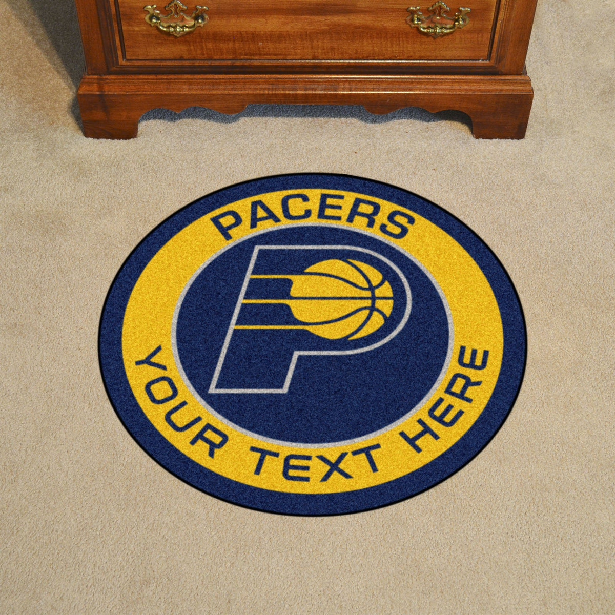 NBA Personalized Roundel Mat Personalized Roundel Mat Fan Mats Indiana Pacers