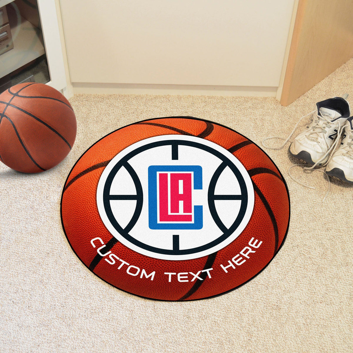 NBA Personalized Basketball Mat Personalized Basketball Mat Fan Mats Los Angeles Clippers