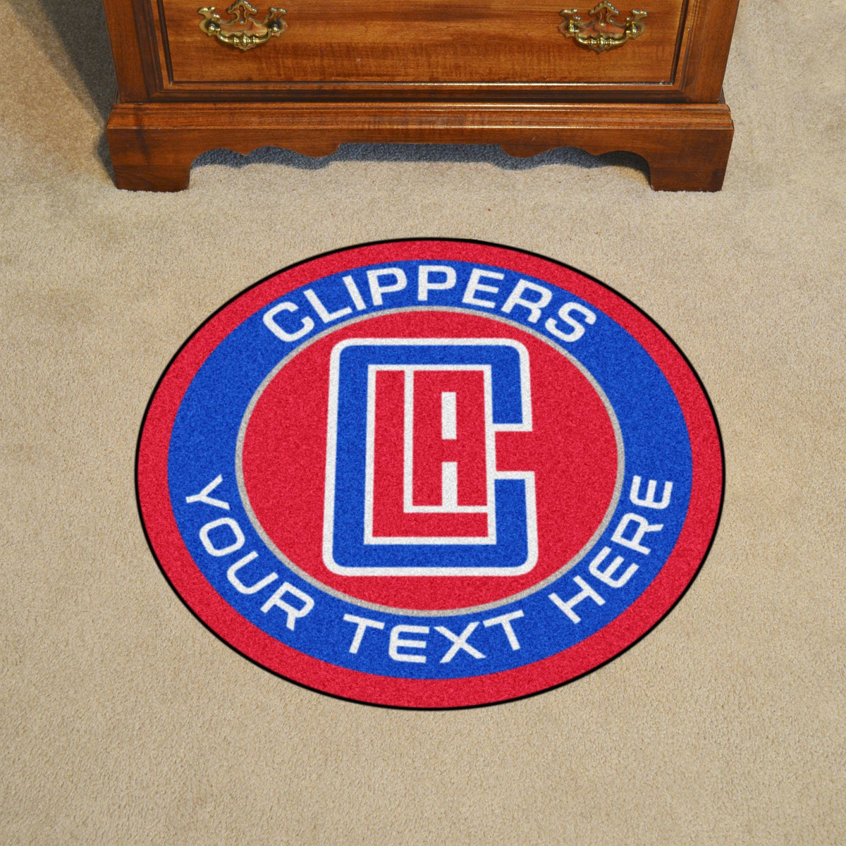 NBA Personalized Roundel Mat Personalized Roundel Mat Fan Mats Los Angeles Clippers