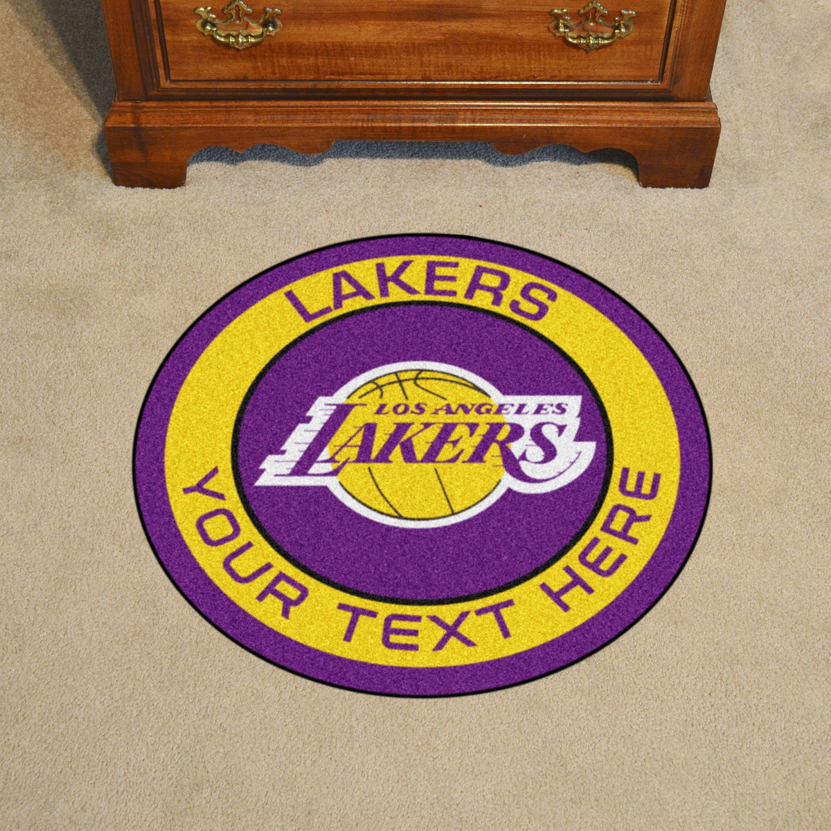 NBA Personalized Roundel Mat Personalized Roundel Mat Fan Mats Los Angeles Lakers