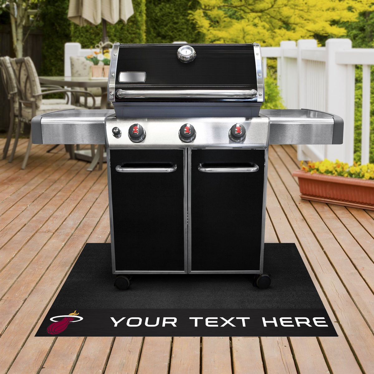 NBA Personalized Grill Mat Personalized Grill Mat Fan Mats Miami Heat