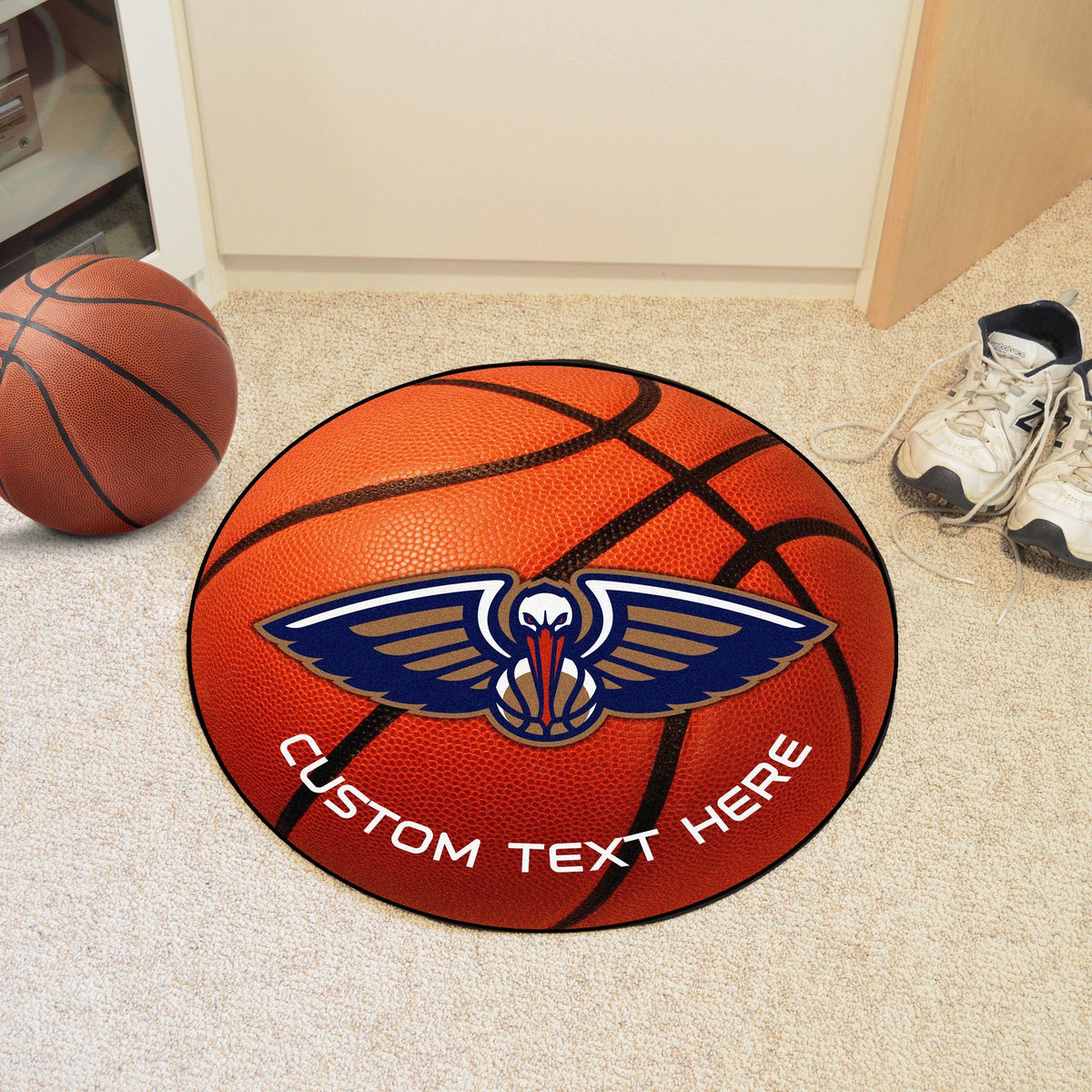 NBA Personalized Basketball Mat Personalized Basketball Mat Fan Mats New Orleans Pelicans