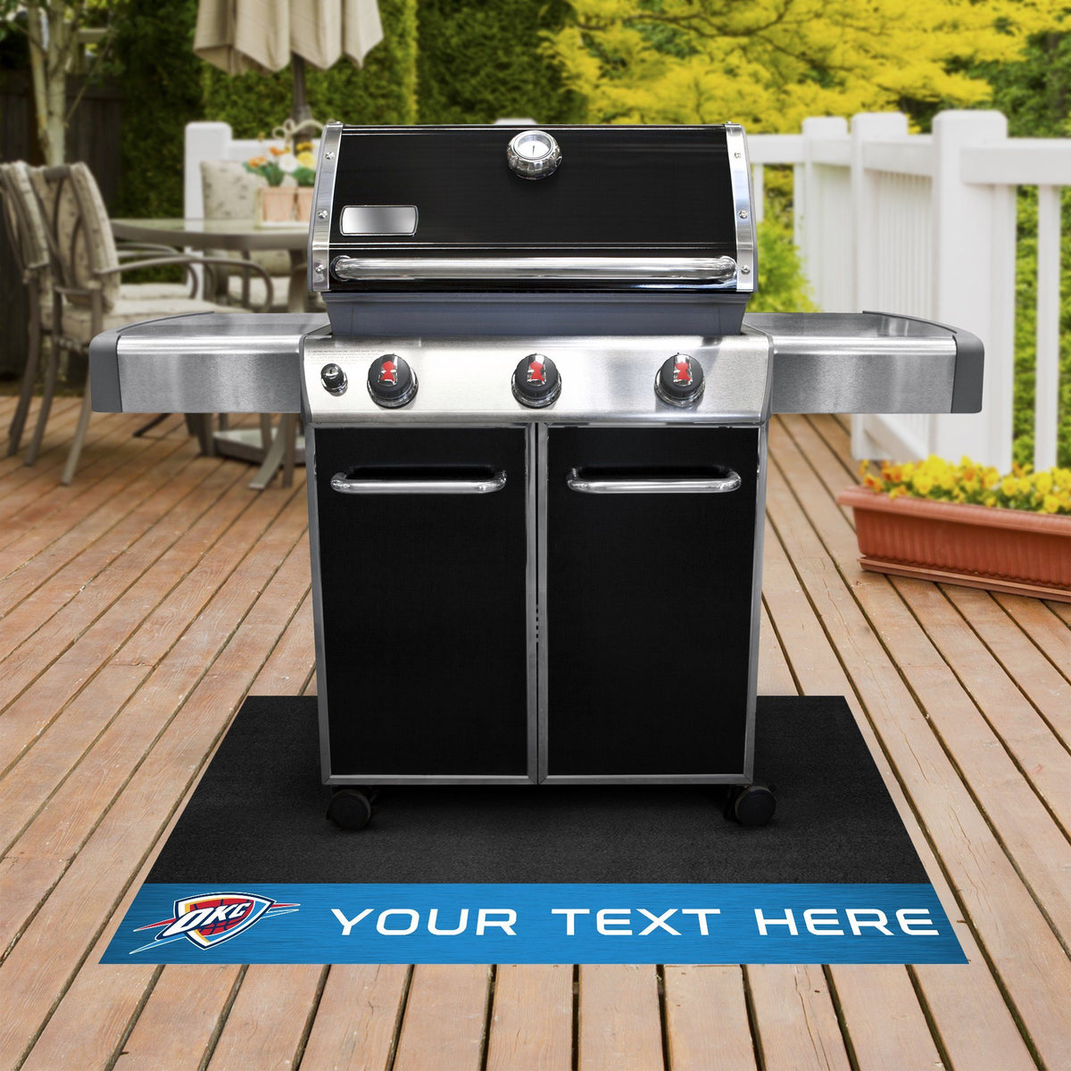 NBA Personalized Grill Mat Personalized Grill Mat Fan Mats Oklahoma City Thunder