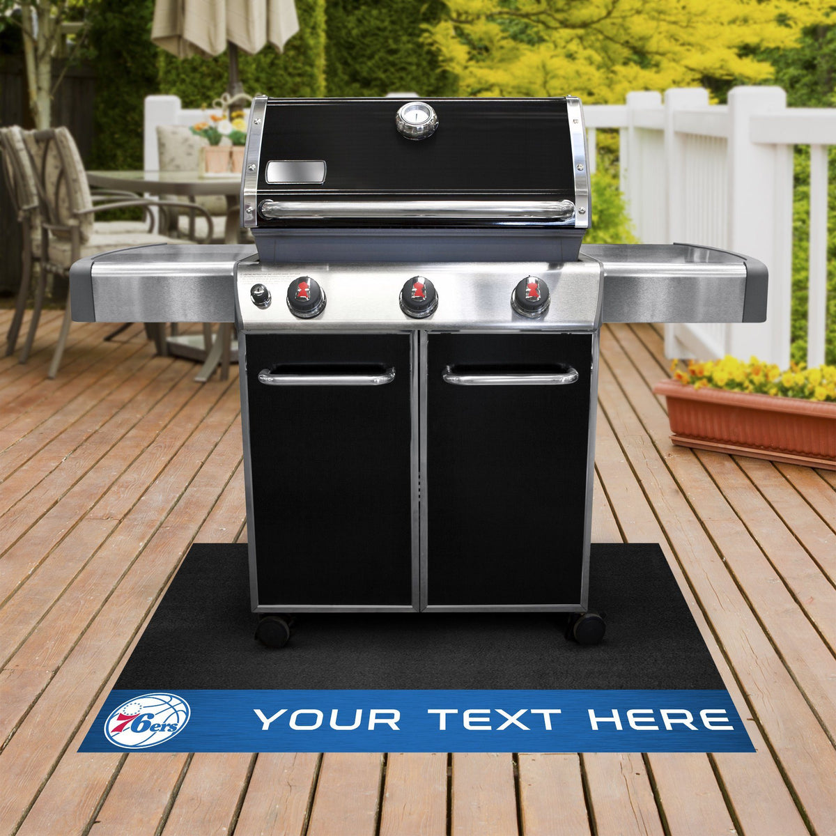 NBA Personalized Grill Mat Personalized Grill Mat Fan Mats Philadelphia 76ers