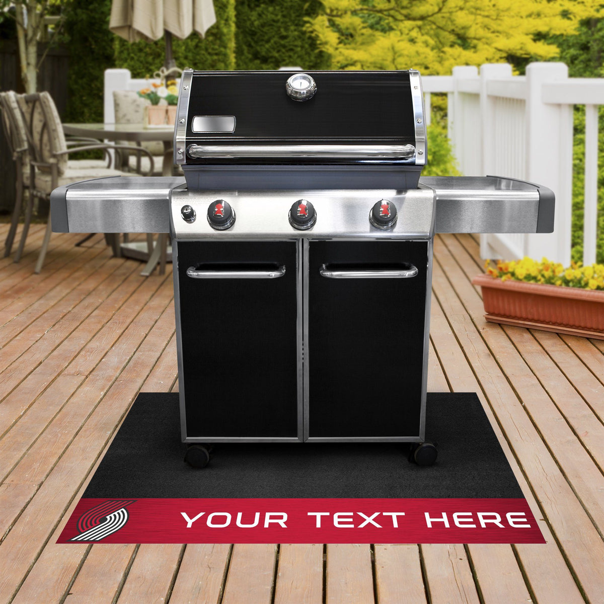 NBA Personalized Grill Mat Personalized Grill Mat Fan Mats Portland Trail Blazers