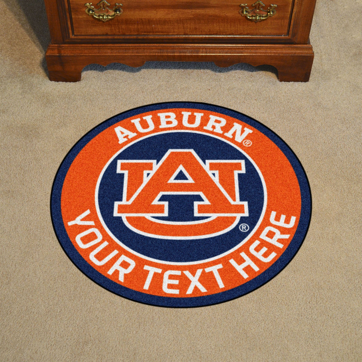 Collegiate Personalized Roundel Mat Personalized Roundel Mat Fan Mats Auburn University