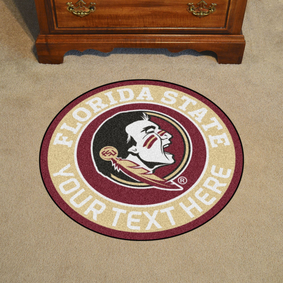 Collegiate Personalized Roundel Mat Personalized Roundel Mat Fan Mats Florida State University