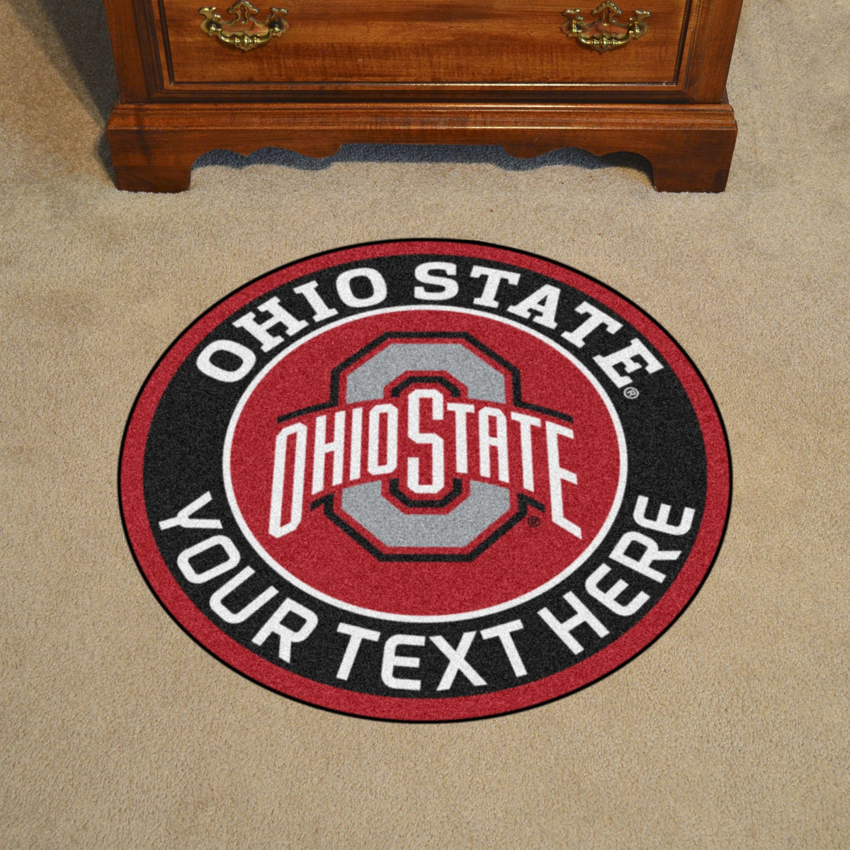Collegiate Personalized Roundel Mat Personalized Roundel Mat Fan Mats Ohio State University