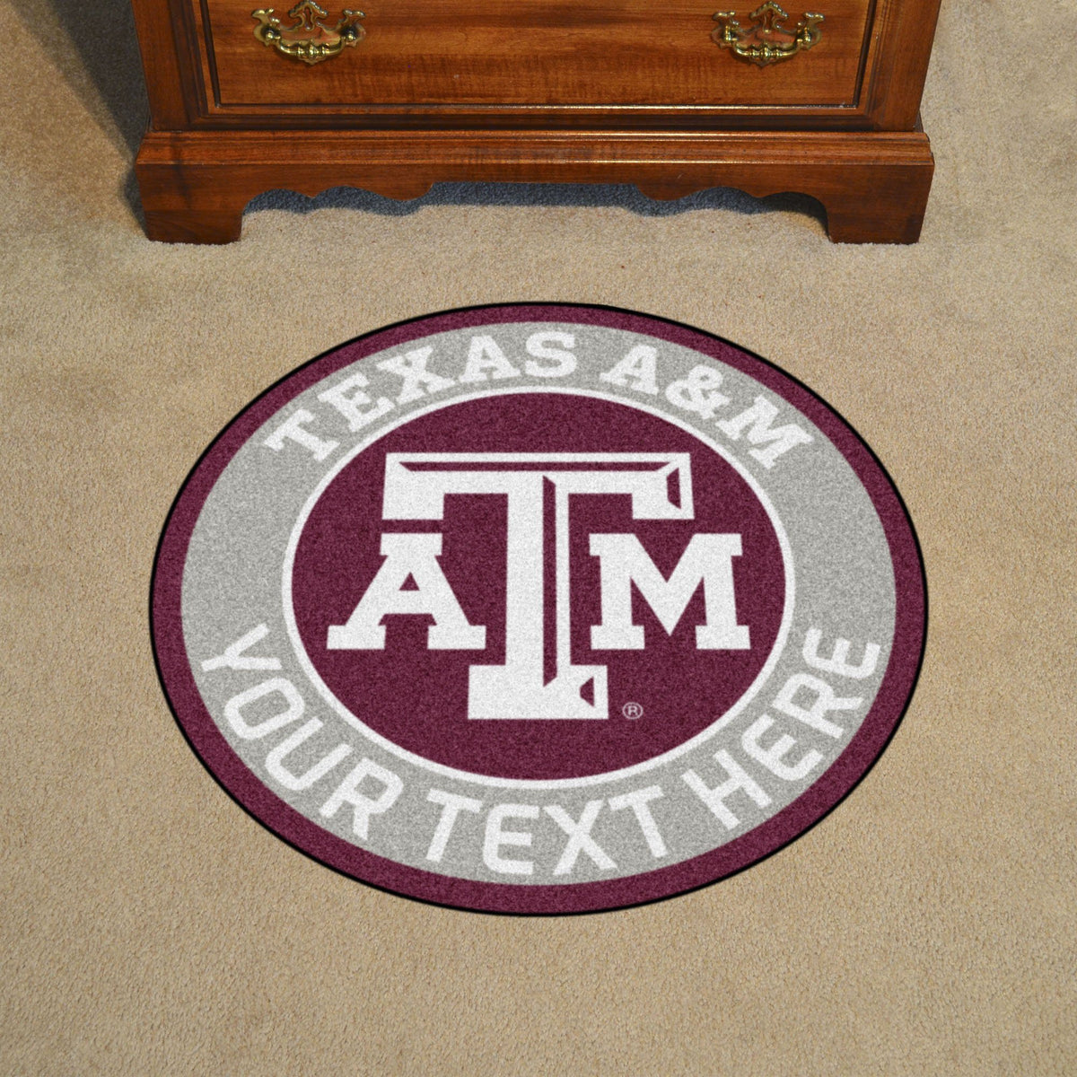Collegiate Personalized Roundel Mat Personalized Roundel Mat Fan Mats Texas A&M University