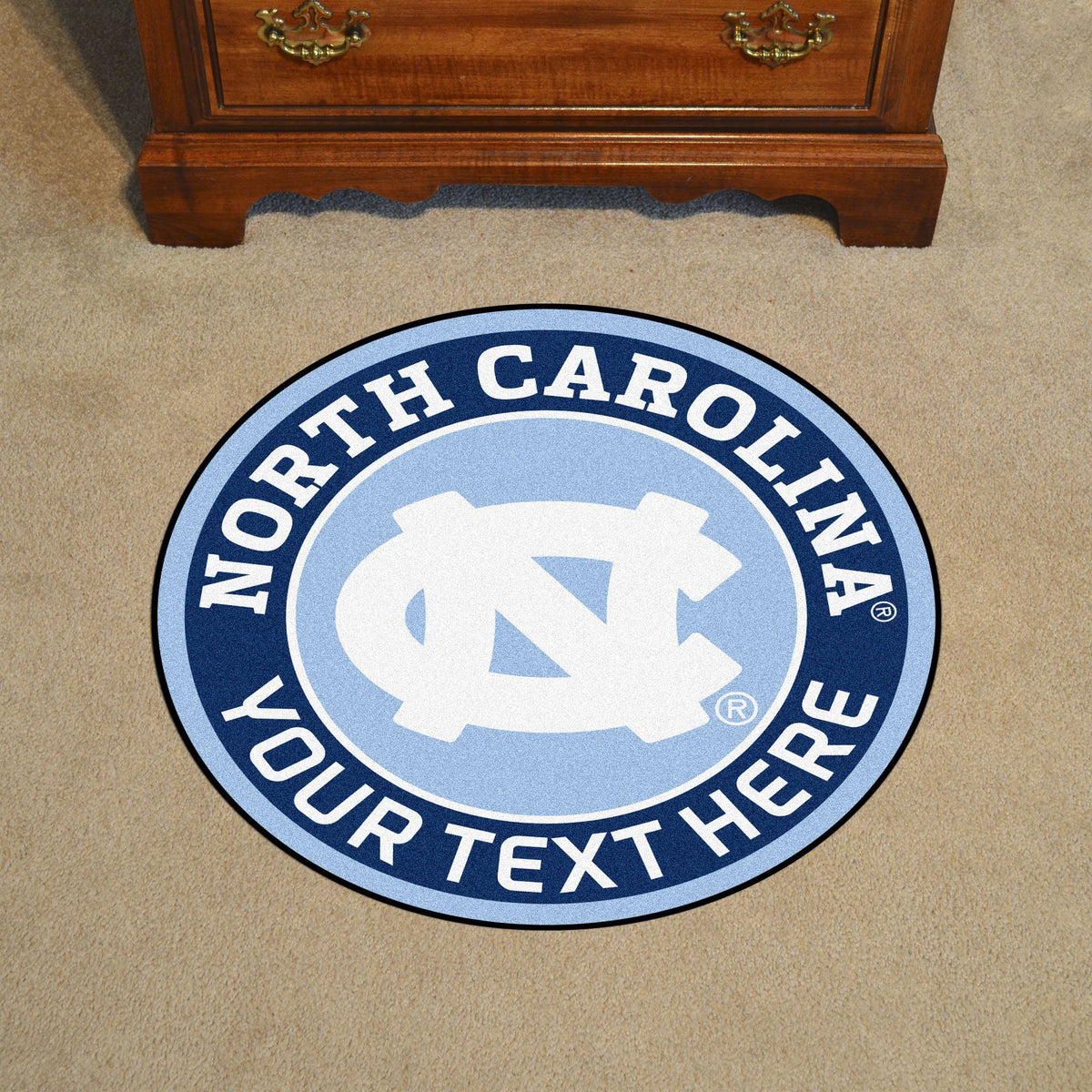 Collegiate Personalized Roundel Mat Personalized Roundel Mat Fan Mats UNC University of North Carolina - Chapel Hill