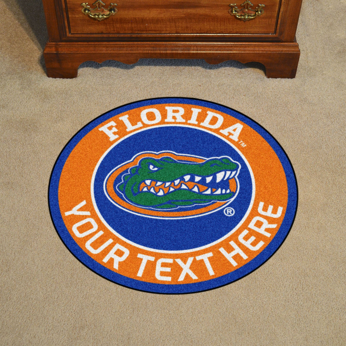 Collegiate Personalized Roundel Mat Personalized Roundel Mat Fan Mats University of Florida