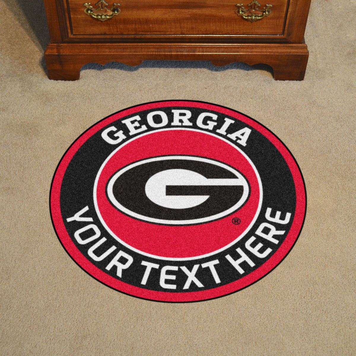 Collegiate Personalized Roundel Mat Personalized Roundel Mat Fan Mats University of Georgia