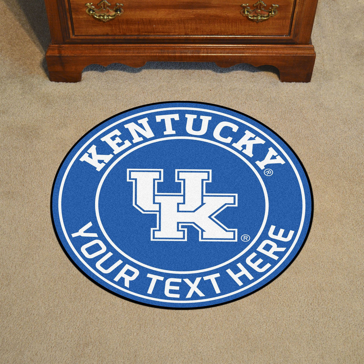 Collegiate Personalized Roundel Mat Personalized Roundel Mat Fan Mats University of Kentucky