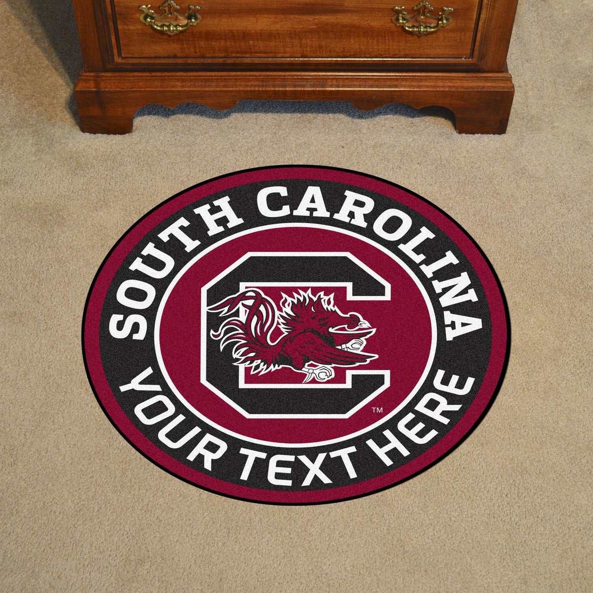 Collegiate Personalized Roundel Mat Personalized Roundel Mat Fan Mats University of South Carolina