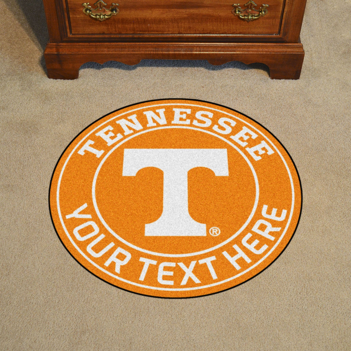 Collegiate Personalized Roundel Mat Personalized Roundel Mat Fan Mats University of Tennessee