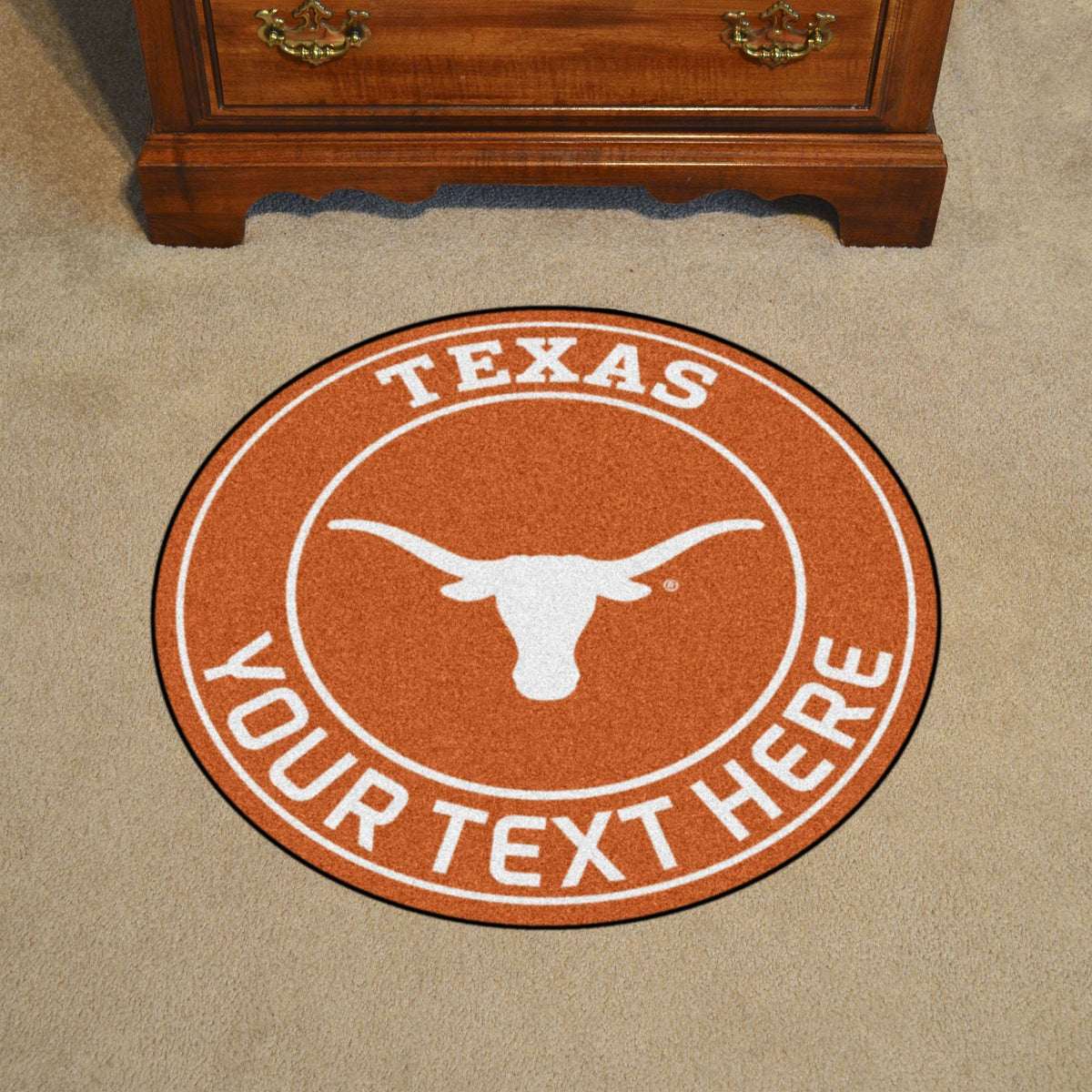 Collegiate Personalized Roundel Mat Personalized Roundel Mat Fan Mats University of Texas