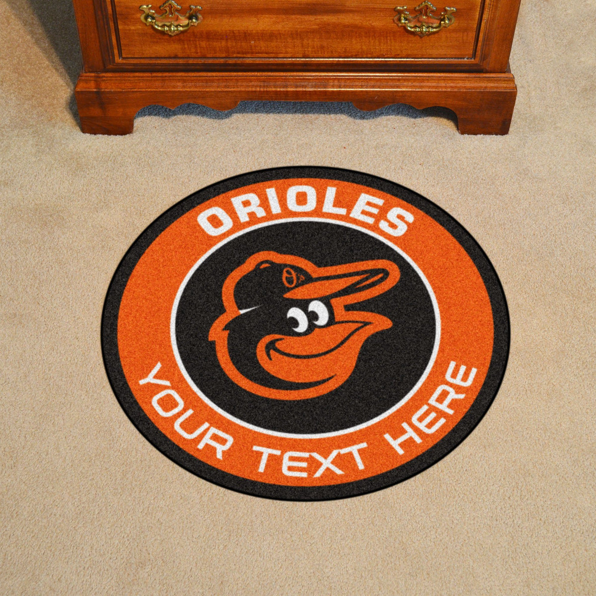MLB Personalized Roundel Mat Personalized Roundel Mat Fan Mats Baltimore Orioles