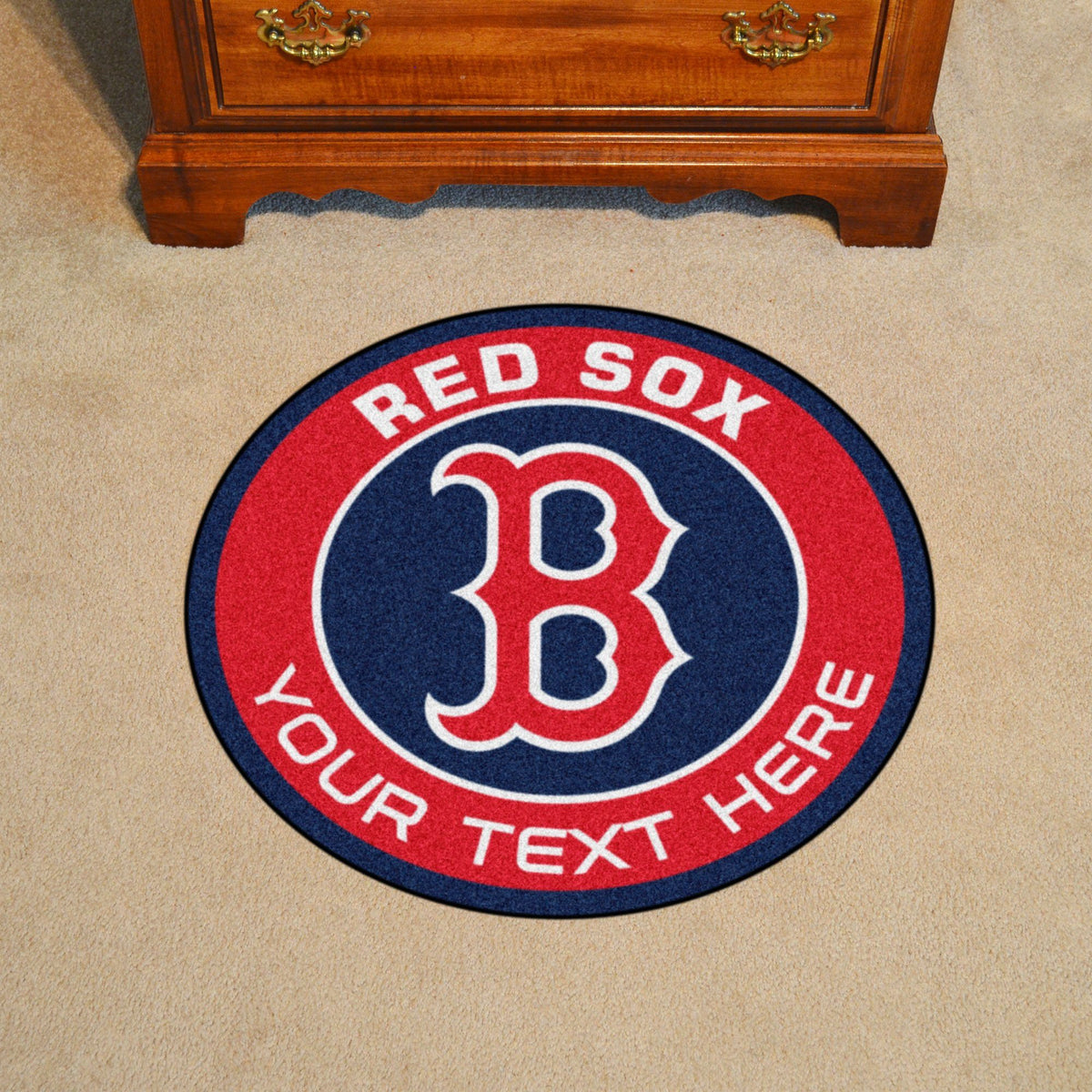 MLB Personalized Roundel Mat Personalized Roundel Mat Fan Mats Boston Red Sox
