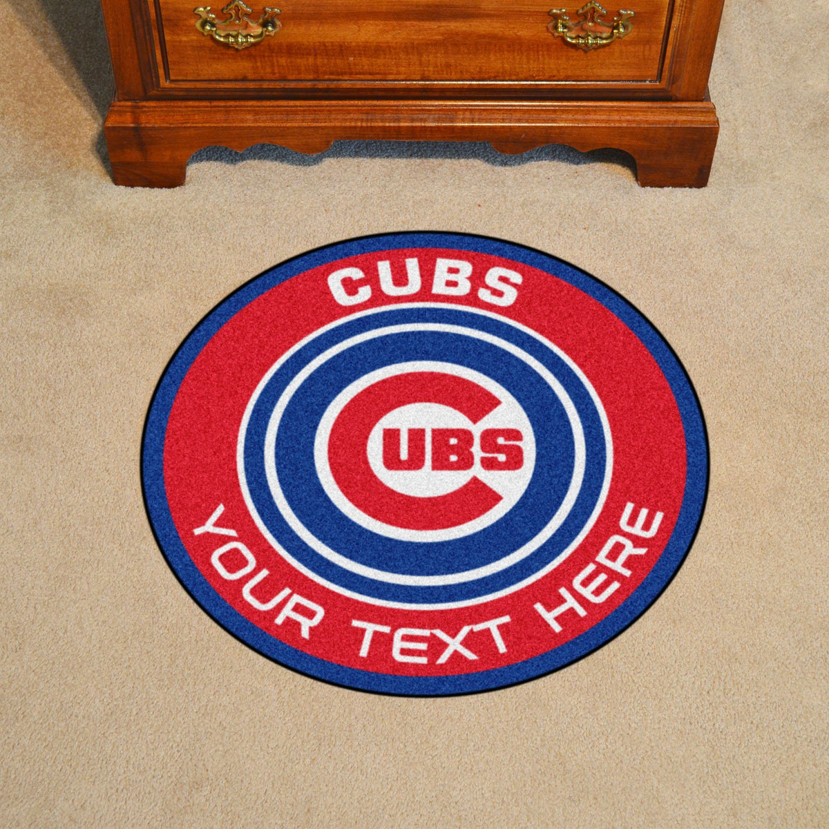 MLB Personalized Roundel Mat Personalized Roundel Mat Fan Mats Chicago Cubs