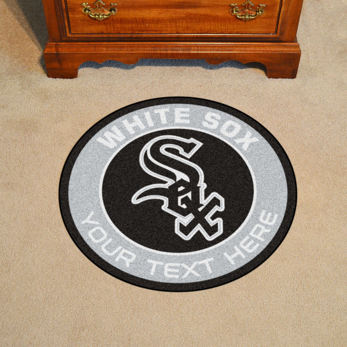 MLB Personalized Roundel Mat Personalized Roundel Mat Fan Mats Chicago White Sox