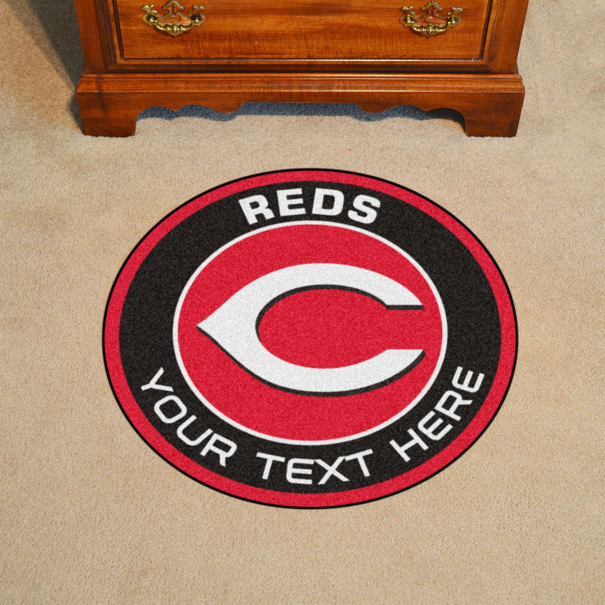 MLB Personalized Roundel Mat Personalized Roundel Mat Fan Mats Cincinnati Reds