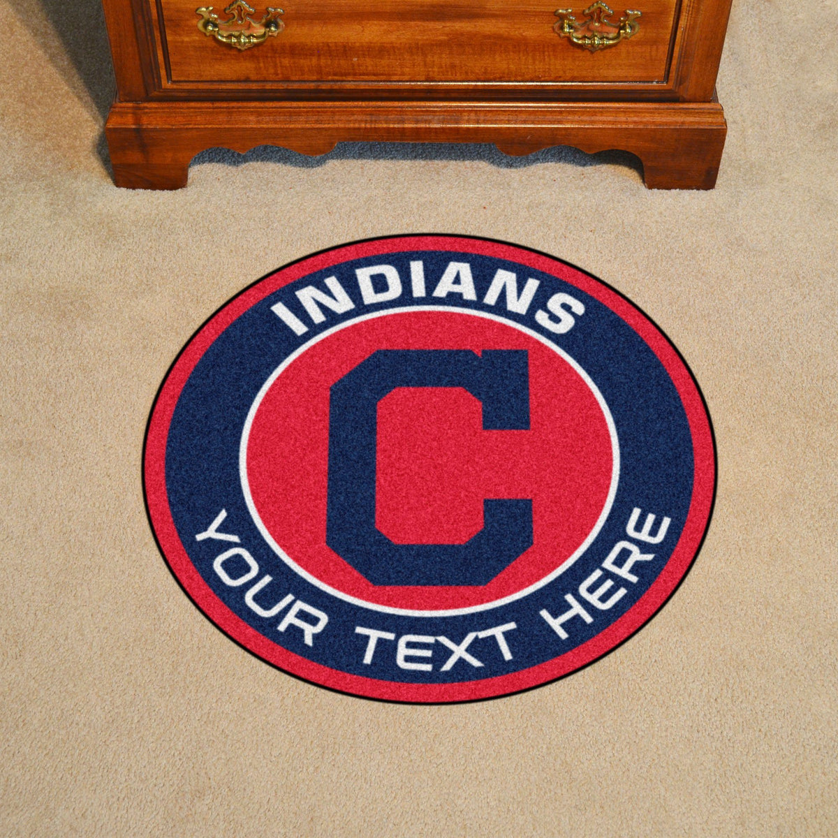 MLB Personalized Roundel Mat Personalized Roundel Mat Fan Mats Cleveland Indians